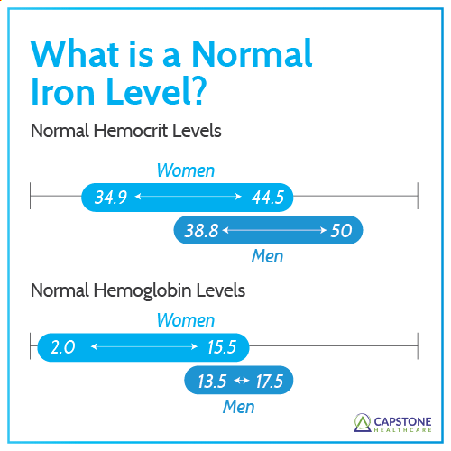 What is a normal Iron level range