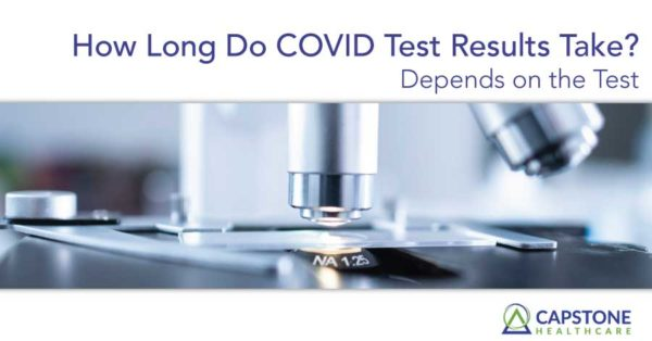 how long do covid test results take?